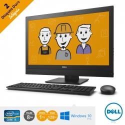 Ordinateur tout en un Dell Optiflex 7440 AIO - 1To + 128 SSD - processeur i5 - écran 23''