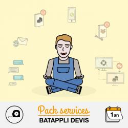 Pack assistance Batappli Devis 12 mois 1 poste