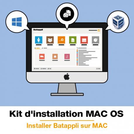 Kit d'installation Batappli pour Apple Mac OS El Capitan ou Sierra
